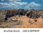 Thatched African Hut Settlement ...