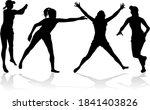 group of people. black... | Shutterstock . vector #1841403826