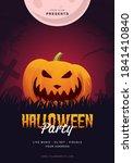 halloween pumpkin flyer poster... | Shutterstock .eps vector #1841410840