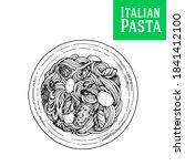 pasta dish vector illustration. ... | Shutterstock .eps vector #1841412100