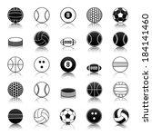sport balls icons pack | Shutterstock .eps vector #184141460