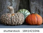 Three Pumpkins Including A...