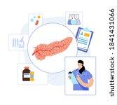 pancreas anatomy logo or icon...   Shutterstock .eps vector #1841431066