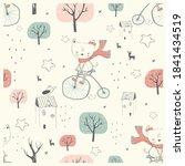 Seamless Pattern. Cute Little...