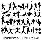baseball  softball player...   Shutterstock .eps vector #1841475460