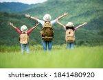 Group family children travel...