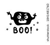 character horrible ghost  virus ...   Shutterstock .eps vector #1841481760