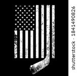 white black american flag with... | Shutterstock .eps vector #1841490826