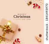 merry christmas and happy new... | Shutterstock .eps vector #1841493970