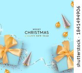 merry christmas and happy new... | Shutterstock .eps vector #1841494906