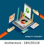 mobility concept flat design....