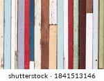 Multi Color Grunge Old Wood...