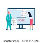 concept of electronic voting.... | Shutterstock .eps vector #1841514826