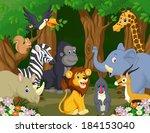 wild animal cartoon | Shutterstock . vector #184153040