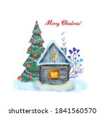 new year's card with a... | Shutterstock . vector #1841560570