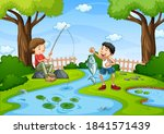 Two Boys Go Fishing In The...
