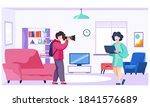 professional photographer makes ... | Shutterstock .eps vector #1841576689