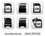 SD, memory card, adapter buttons set