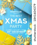 christmas party poster... | Shutterstock .eps vector #1841604379