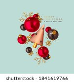 merry christmas and happy new... | Shutterstock .eps vector #1841619766