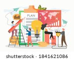 tiny business people making... | Shutterstock .eps vector #1841621086