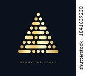 christmas tree christmas card... | Shutterstock .eps vector #1841639230