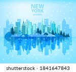 winter christmas city with...   Shutterstock .eps vector #1841647843