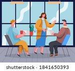 cartoon characters in the...   Shutterstock .eps vector #1841650393