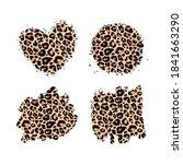 leopard print textured hand... | Shutterstock .eps vector #1841663290