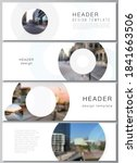 vector layout of headers ... | Shutterstock .eps vector #1841663506