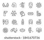 coronavirus updated icon set.... | Shutterstock .eps vector #1841670736