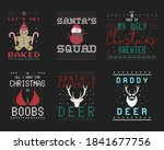 funny christmas graphic prints... | Shutterstock . vector #1841677756