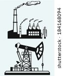 concept of oil industry and... | Shutterstock .eps vector #184168094