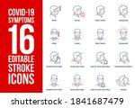 signs and symptoms coronavirus  ...   Shutterstock . vector #1841687479