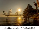 oil and gas platform in the... | Shutterstock . vector #184169300