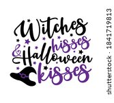 witches hisses and halloween... | Shutterstock .eps vector #1841719813