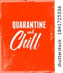 quarantine and chill... | Shutterstock .eps vector #1841725336