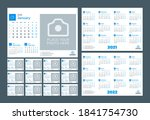 desk calendar for 2021 year.... | Shutterstock .eps vector #1841754730