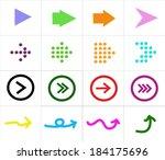 vector arrow icons set  | Shutterstock .eps vector #184175696