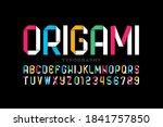 origami style modern vivid font ... | Shutterstock .eps vector #1841757850
