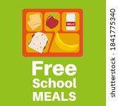 free school meals served here... | Shutterstock .eps vector #1841775340
