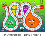 start to finish board game... | Shutterstock .eps vector #1841775646