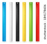 rulers in centimeters and... | Shutterstock .eps vector #184178606