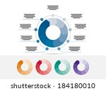 colorful nine sided puzzle... | Shutterstock .eps vector #184180010