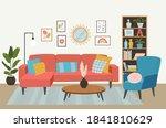 living room interior.... | Shutterstock .eps vector #1841810629