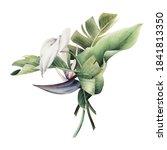 floral arrangement with... | Shutterstock . vector #1841813350