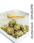 marijuana weed pot and cannabis  | Shutterstock . vector #184182398