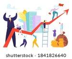 teamwork at success arrow  team ... | Shutterstock .eps vector #1841826640