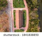 Wat Pa Kho Wang Temple Aerial...