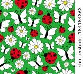 spring pattern | Shutterstock .eps vector #184184363